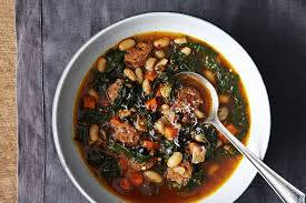 Kale, Andouille, and White Bean Stew